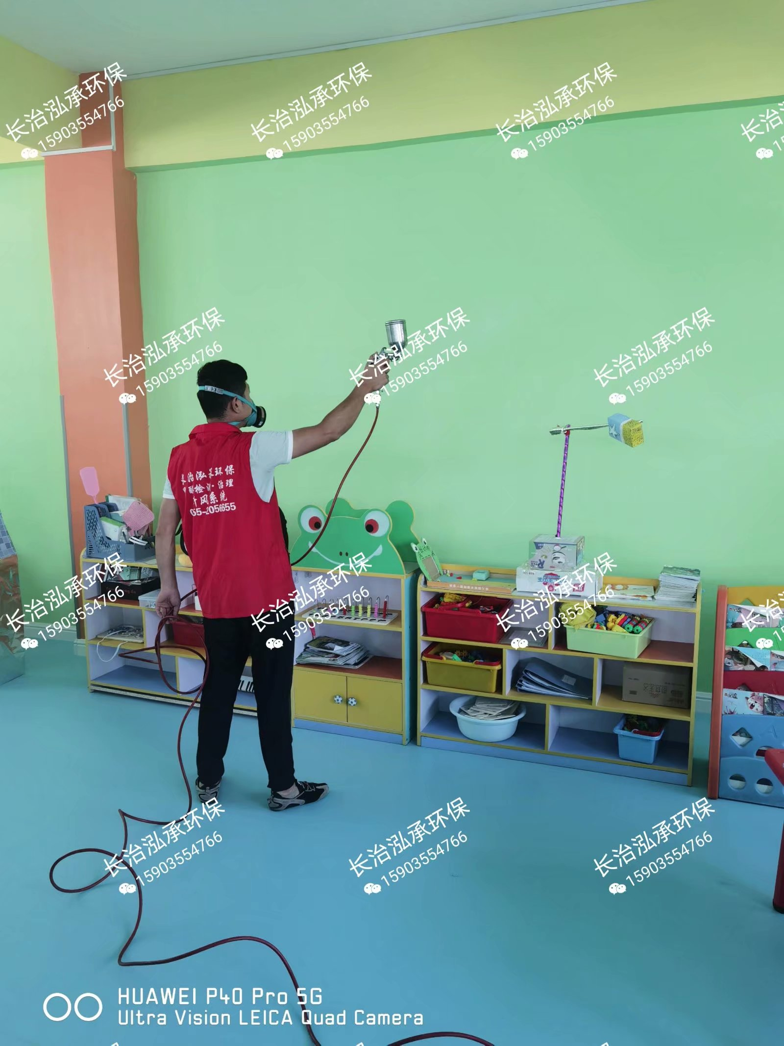 长治甲醛检测 长治启迪星梦幼儿园300平米甲醛治理