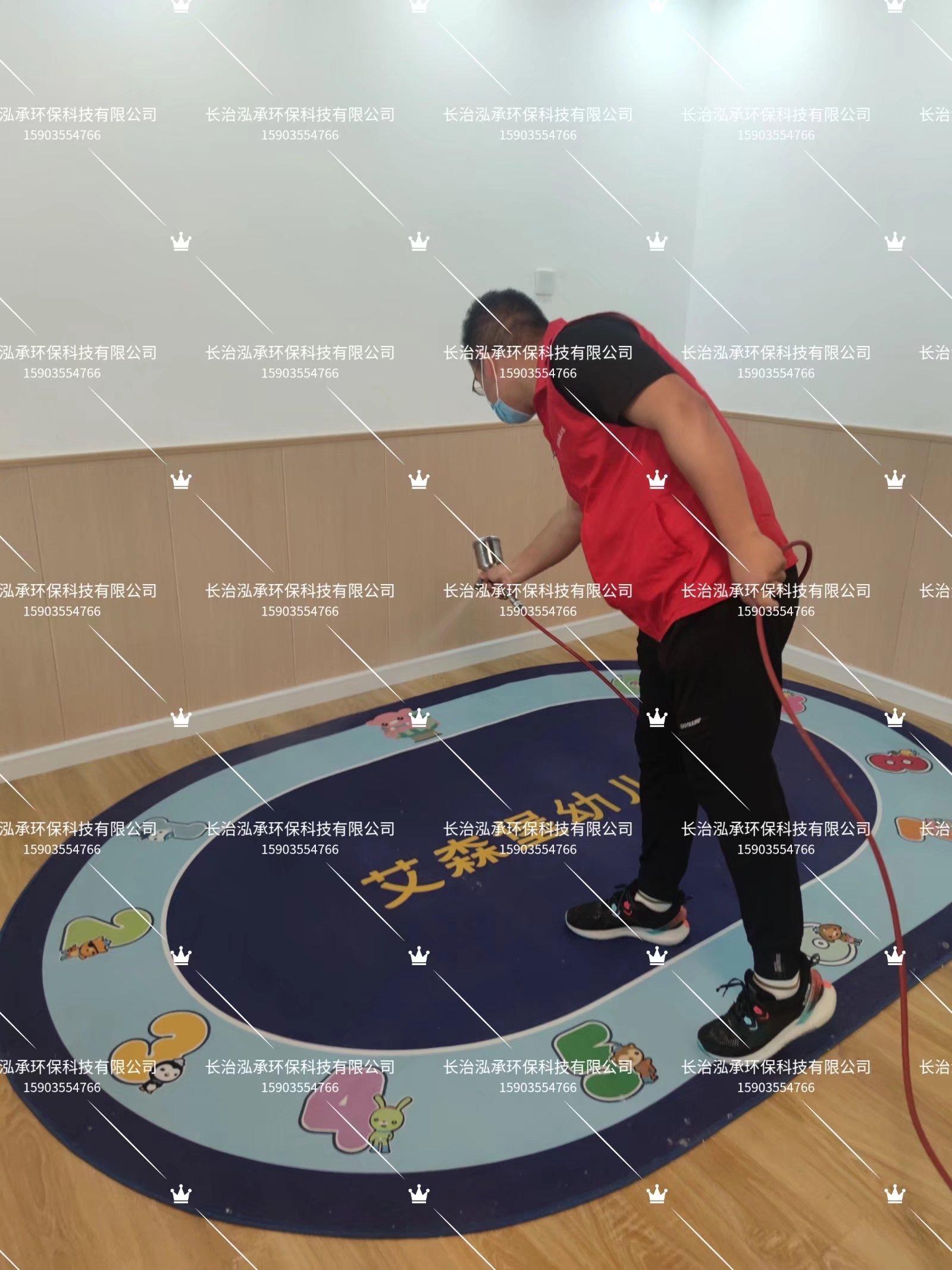 长治甲醛检测|长治艾森堡幼儿园1500平米甲醛治理